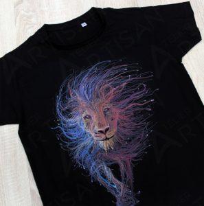 футболка с принтом звездный лев